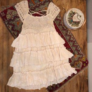 Dresses & Skirts - Crochet Ruffle Mini